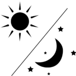 outline of sun and moon